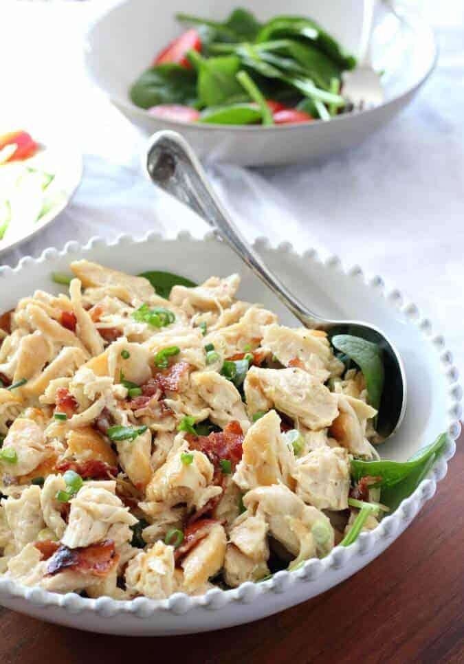 Paleo Chicken Salad With Bacon & Scallions