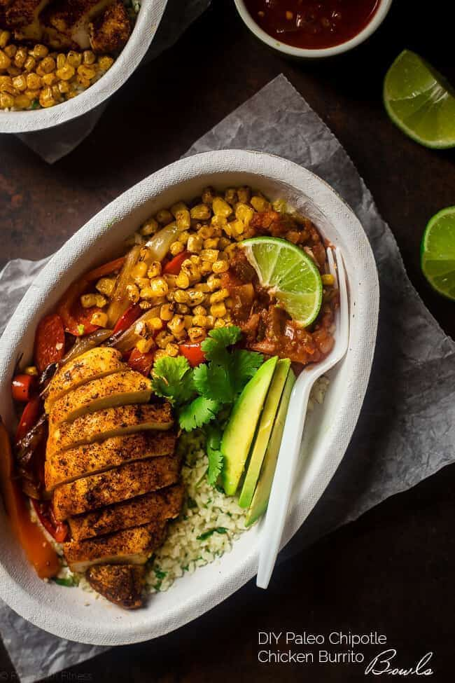 Chipotle Burrito Bowl With Chicken + Healthy Bowl Recipes
