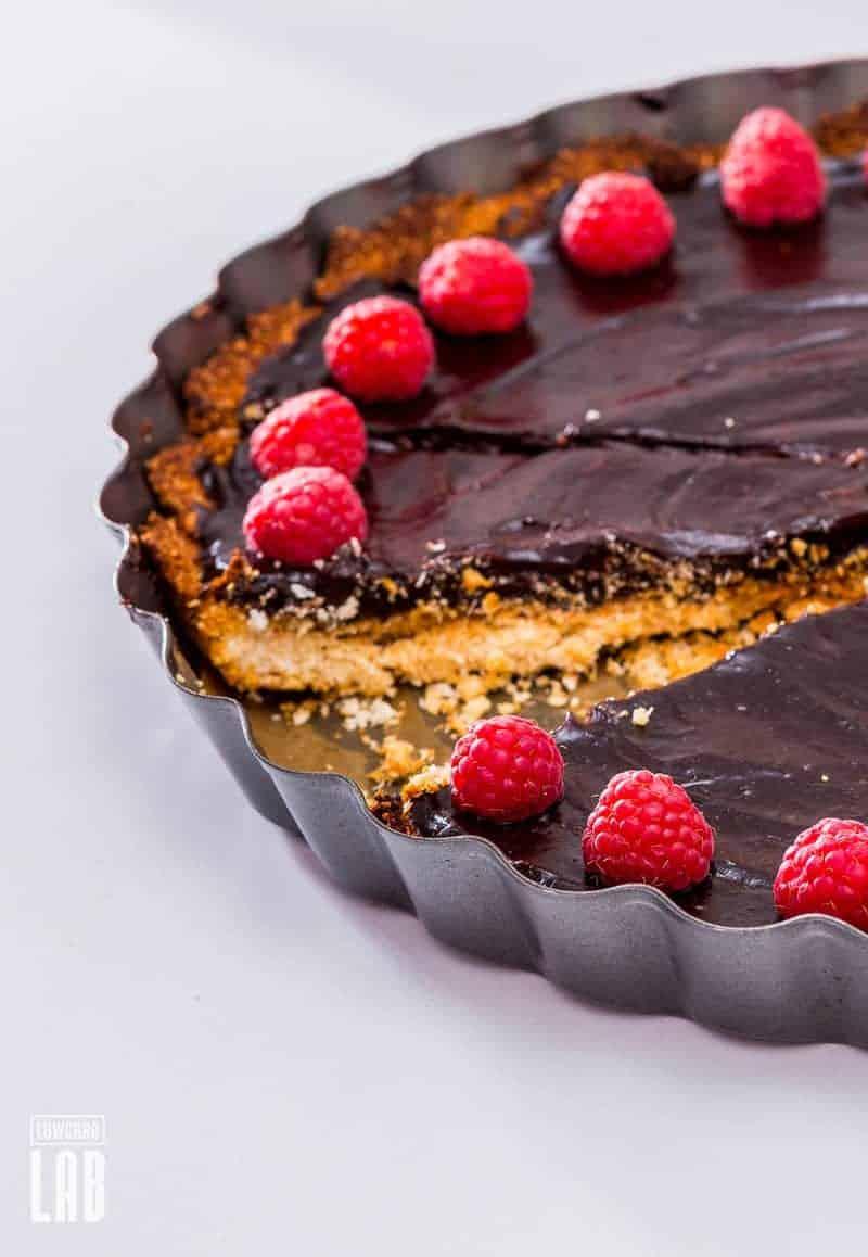 Paleo Chocolate-Raspberry Cake