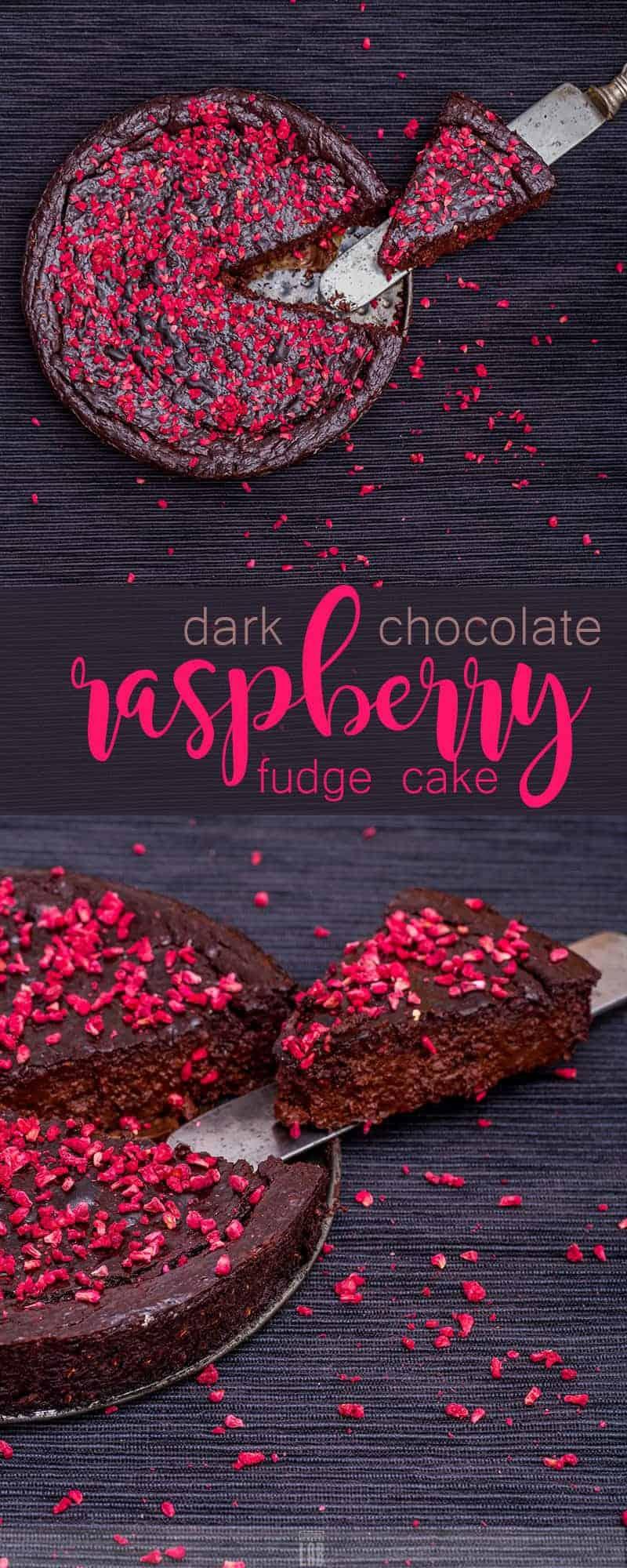 Low-Carb Dark Chocolate-Raspberry Fudge Tart
