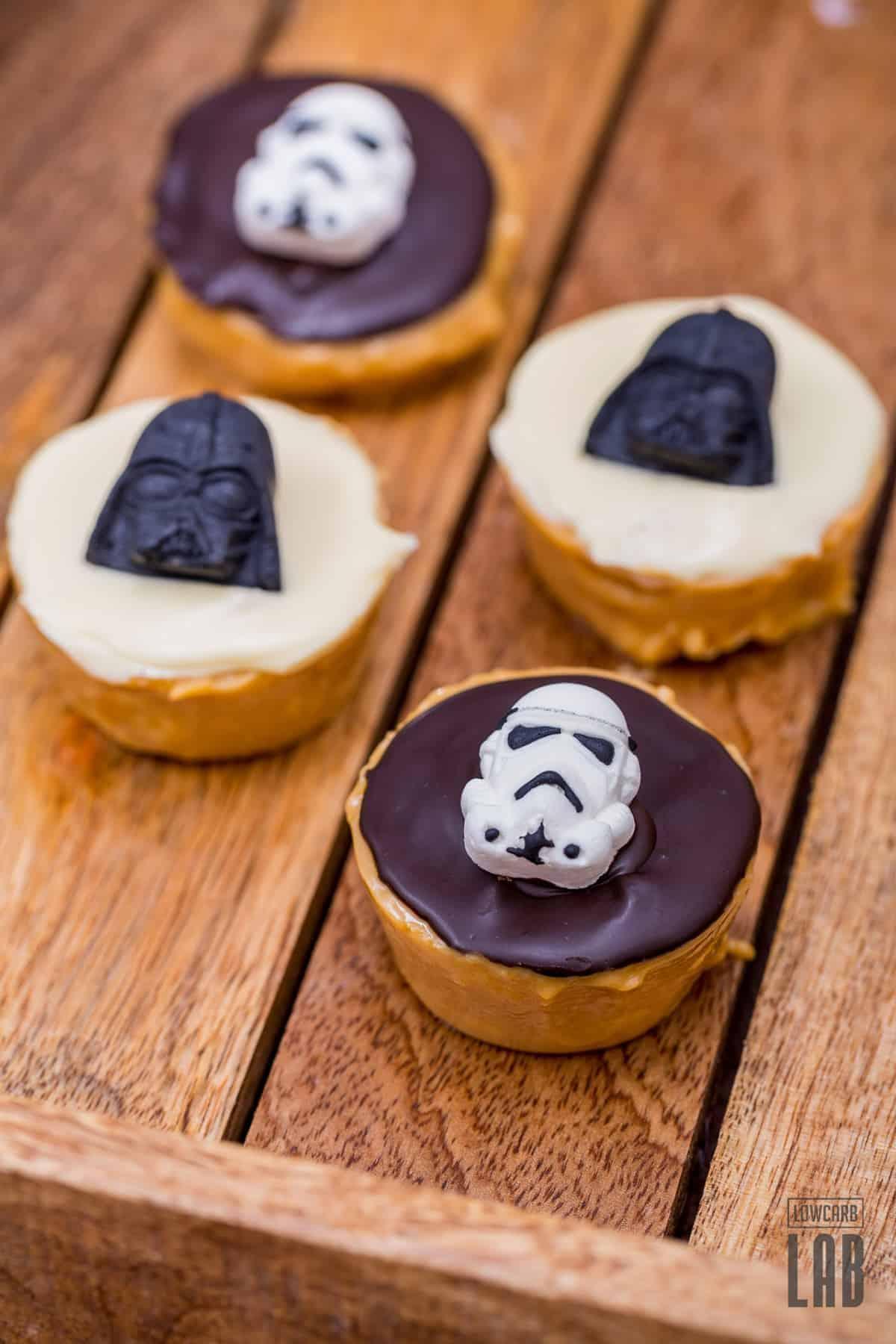 Low-Carb Star Wars Peanut Butter Fudge