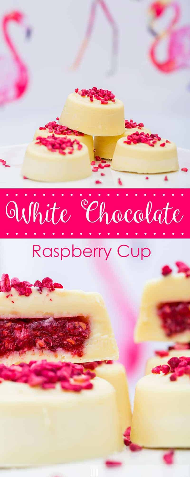 Low-Carb White Chocolate Raspberry Cups