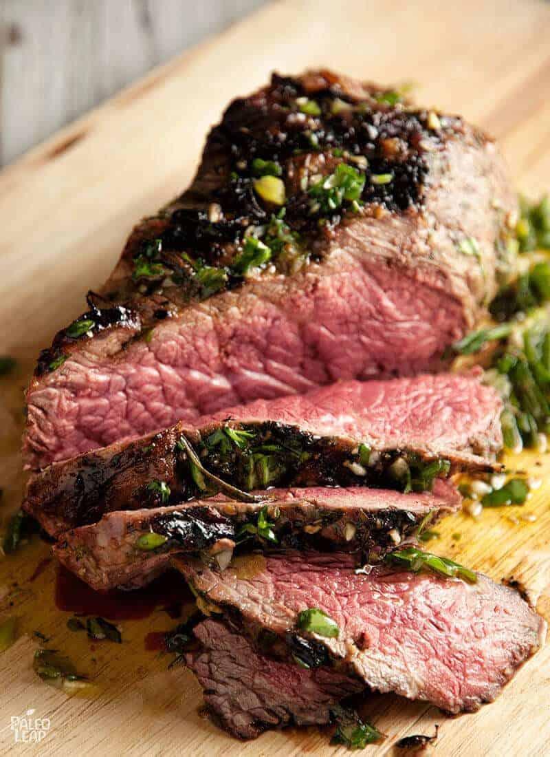 Beef Sirloin with Fresh Herb Marinade