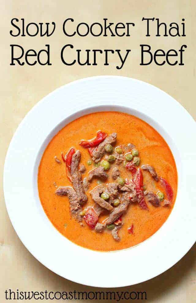 Slow Cooker Thai Red Curry Beef Recipe