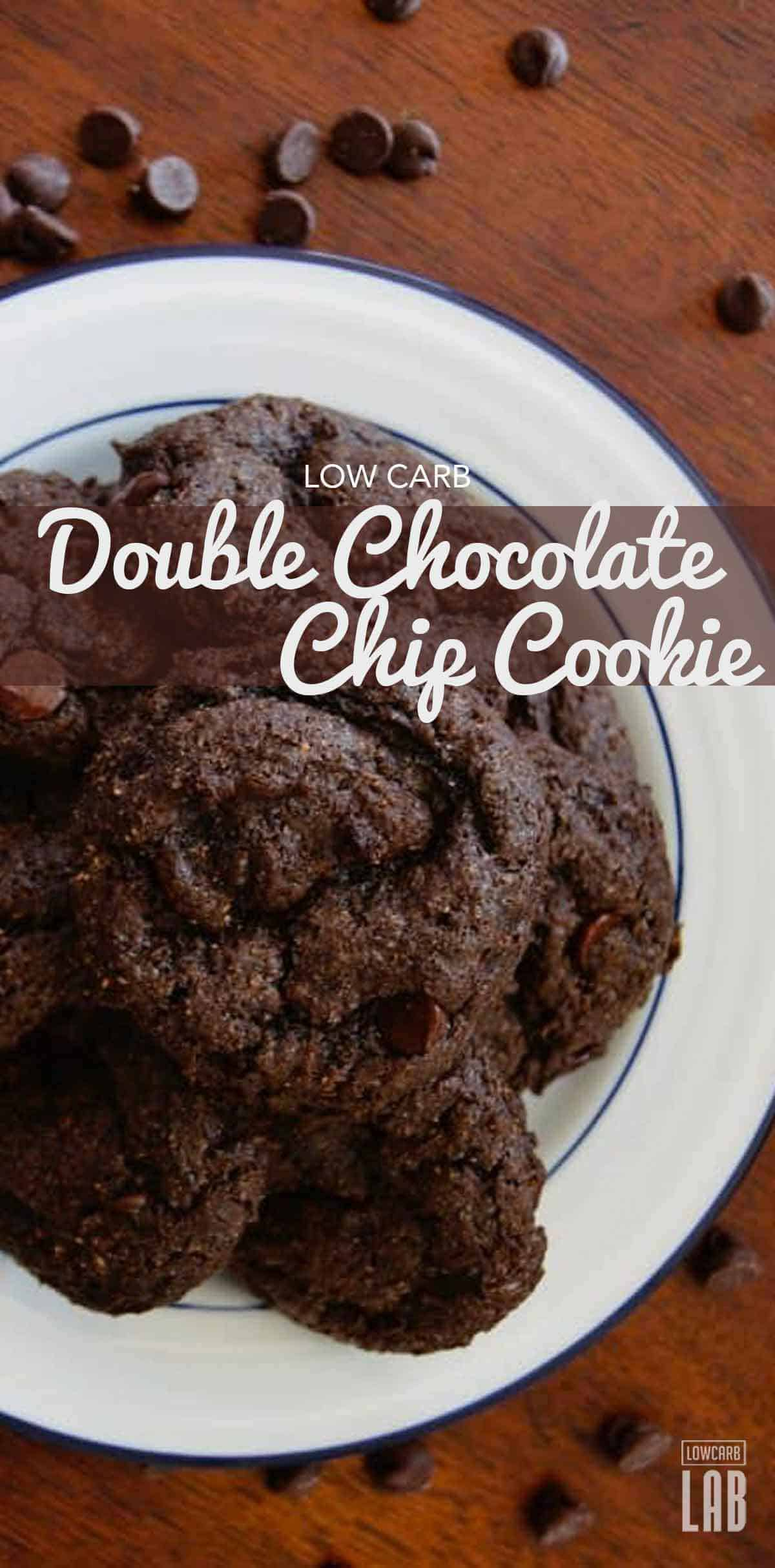 Delicious low carb double chocolate chip cookie recipe