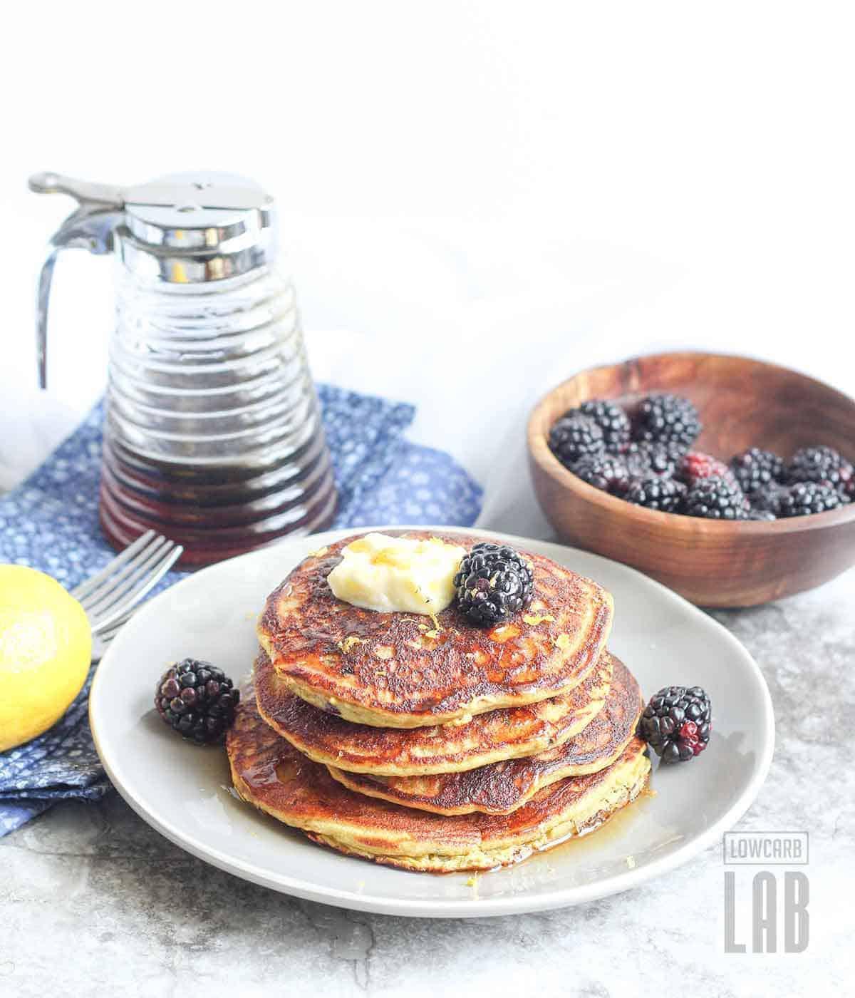 Low carb blackberry pancakes recipe breakfast