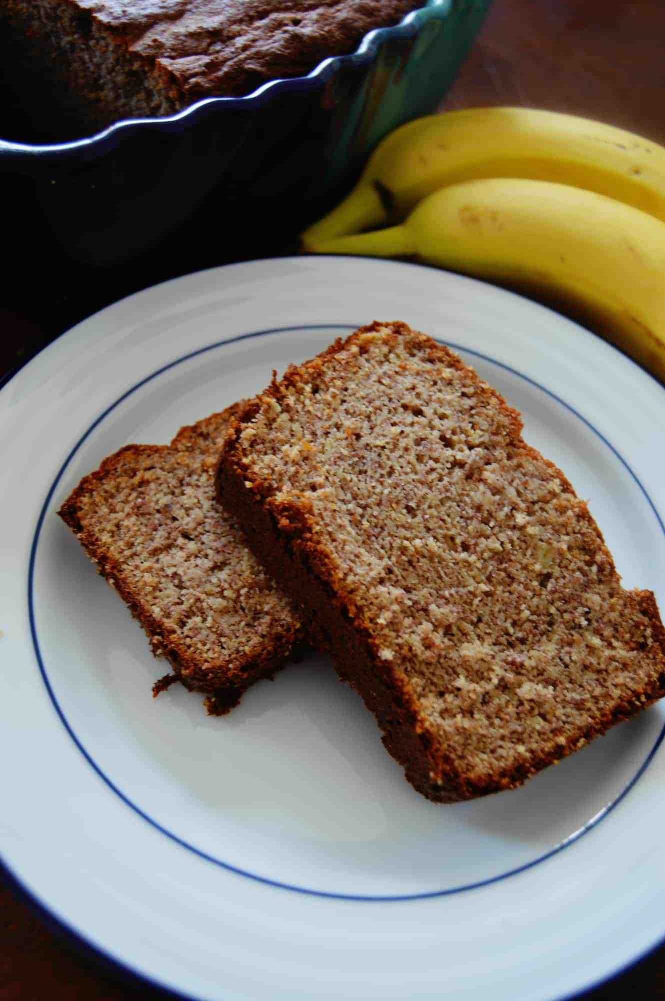 low carb banana bread slice recipe