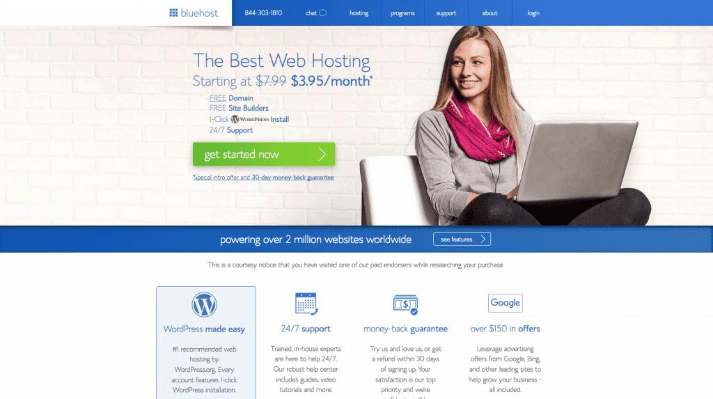 best wordpress hosting bluehost review